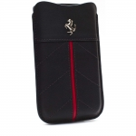 Kott Ferrari California Series Leather Pouch for Apple iPhone 4, 4S Orig. Black