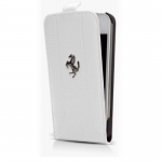 Kott Ferrari FF Series BookFlip-Case for Apple iPhone 5, Orig. White