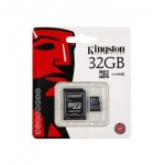 Mälukaart Kingston microSDHC 32GB, Class 10 + SD adapter