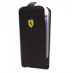 Kott Ferrari New Challenge Series Leather Flip-Case Apple iPhone 5, 5S Orig. Black