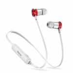 Kõrvaklapid Baseus Bluetooth Wireless Earphones Encok S07 (Silver + Red)