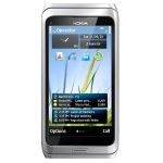 Kasutatud Nokia E7 16GB Smartphone, Symbian Belle, 4.0 AMOLED, 680 MHz, 3.5G, 8MP HD, GPS, WLAN, BT 3.0