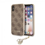 Kaitseümbris iPhone X/XS Guess Charms Hard Case Orig. Brown (GUHCPXGF4GBR)