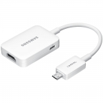 Kaabel / adapter Samsung Galaxy S4 (GT-i9500, GT-i9505) j.m.t. microUSB -> HDMI Orig. ET-H10FAUW White