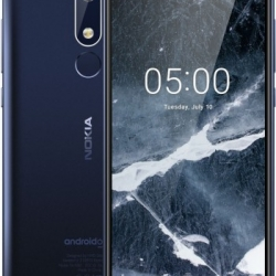 Nokia 5.1 Smartphone, Dual SIM, LTE 32GB, Tempered Blue