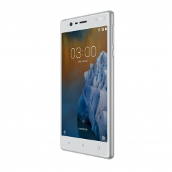 Nokia 3 Dual SIM 16GB 4G Smartphone, Android 7.0, 5 tolli  IPS LCD, Quad-core 1.4 GHz, 8MP , 4G, GPS, WLAN, BT 4.0 White
