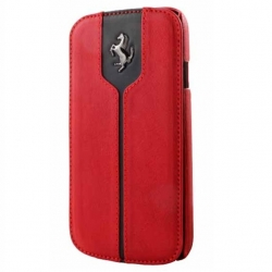 Kott Ferrari Montecarlo Series Leather Flip-Case Samsung Galaxy S4 (GT-i9500, GT-i9505) Orig. Red